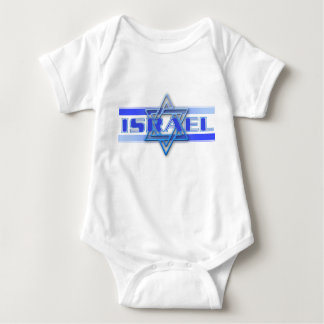 Jewish Star Of David Israel Blue and White Baby Bodysuit