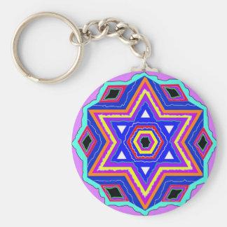Jewish Star of David Key Ring