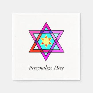 Jewish Star Of David Paper Napkin
