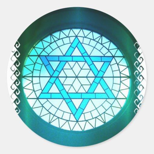 Jewish Star of David Stickers
