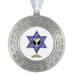 Jewish Star Round Pewter Decoration