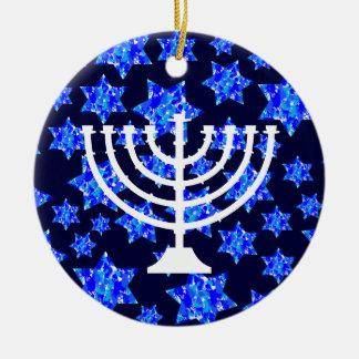 Jewish Stars Menorah Christmas Ornament