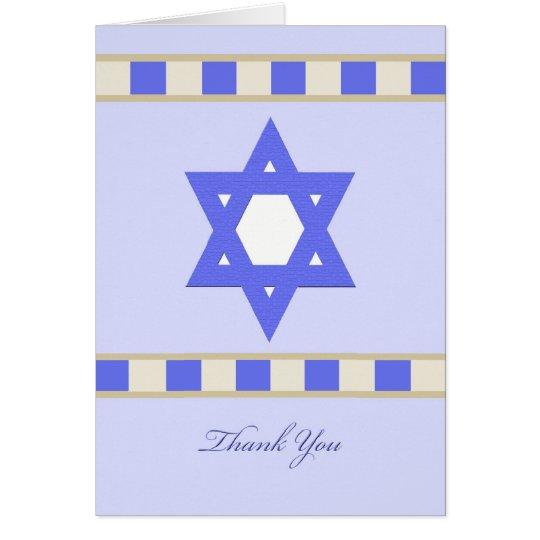 Jewish Sympathy Thank You Greeting Card