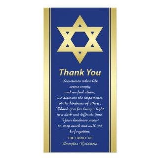 Jewish Sympathy Thank You Photo Card Star of David