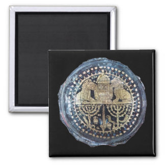 Jewish Themed Roman Goblet - 2nd Century Square Magnet
