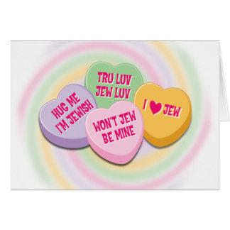 Jewish Valentine's Card: Candy Hearts