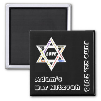Jewish Values Star Save the Date Square Magnet