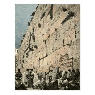 Jewish Wailing Wall Kotel Buraq Jerusalem Vintage Post Card