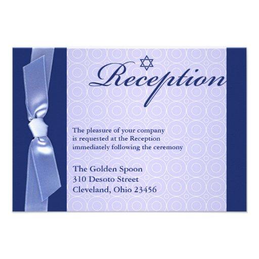Jewish Wedding Gift Ideas Uk : Jewish Wedding (Reception Only) Flat Invitation 9 Cm 13 Cm ...
