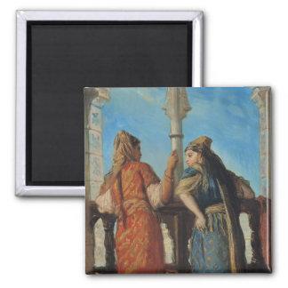 Jewish Women at the Balcony, Algiers, 1849 Magnet