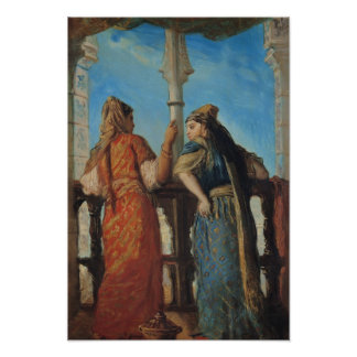 Jewish Women at the Balcony, Algiers, 1849 Poster