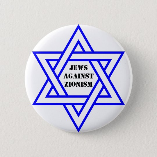 Jews against zionism 6 cm round badge