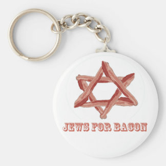 Jews For Bacon Basic Round Button Key Ring
