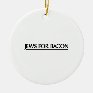 Jews for Bacon Christmas Ornament