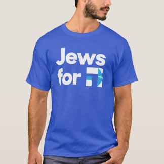 Jews for H Hillary Clinton blue hebrew shirt