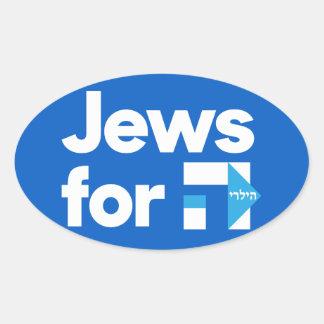 Jews for H Hillary Clinton hebrew bumper sticker