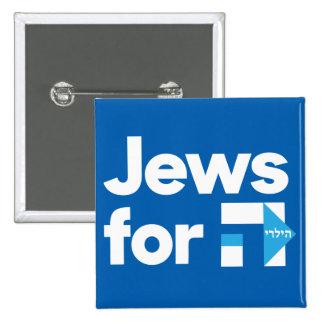 Jews for Hillary square button