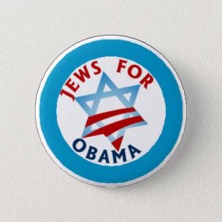 jews for obama 6 cm round badge