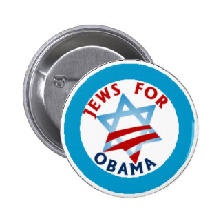 jews for obama 6 cm round badge