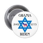 Jews for Obama Biden 2012 6 Cm Round Badge