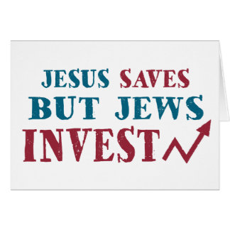 Jews Invest - Jewish finance humor Card