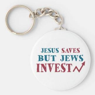 Jews Invest - Jewish finance humor Key Ring