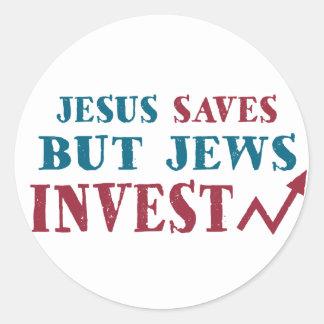 Jews Invest - Jewish finance humor Round Sticker