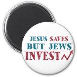 Jews Invest - Jewish finance humour Fridge Magnets
