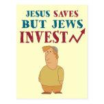Jews Invest - Jewish finance humour Post Card