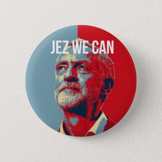 #JezWeCan - Jeremy Corbyn 4 PM badge