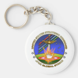 JFCC for Global Strike and Integration Basic Round Button Key Ring