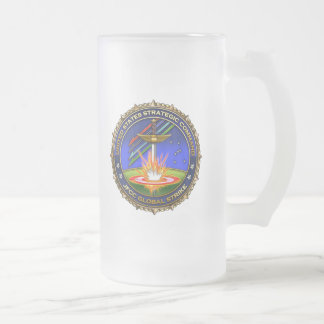 JFCC for Global Strike and Integration Frosted Glass Beer Mug