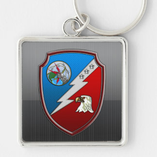 JFCC for Integrated Missile Defense Silver-Colored Square Key Ring