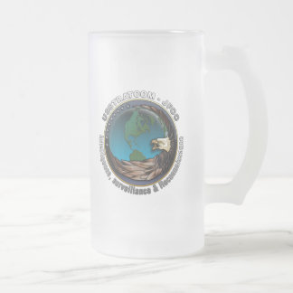JFCC for Intelligence, Surveillance and Reconnaiss Frosted Glass Beer Mug