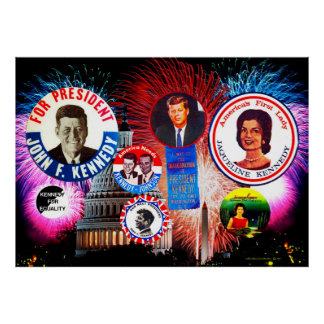 JFK 4th of July Poster
