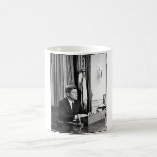 JFK Addresses The Nation Basic White Mug
