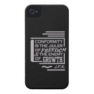 JFK Conformity Quote iPhone 4 Case-Mate, customize iPhone 4 Cover