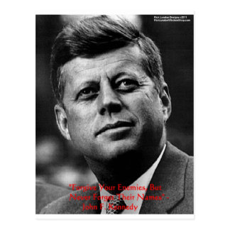 JFK Forgive Not Forget Wisdom Quote Gifts Card Post Card