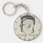 JFK Half Dollar key ring Basic Round Button Key Ring