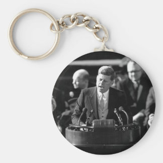 JFK Inauguaration Basic Round Button Key Ring