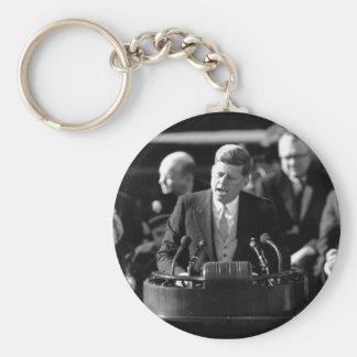 JFK Inauguaration Basic Round Button Key Ring