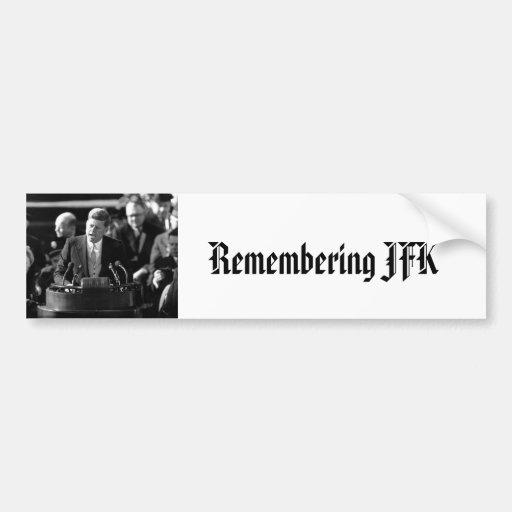 JFK Inauguaration Car Bumper Sticker