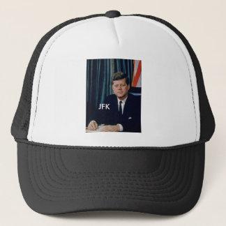 JFK official portrait from public domain Trucker Hat