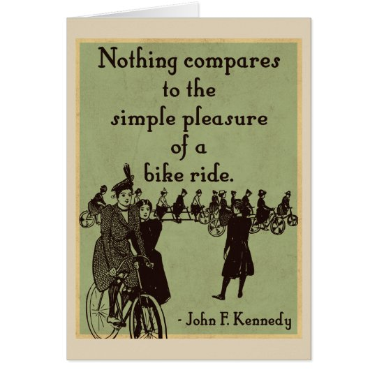 JFK on Cycling quote card