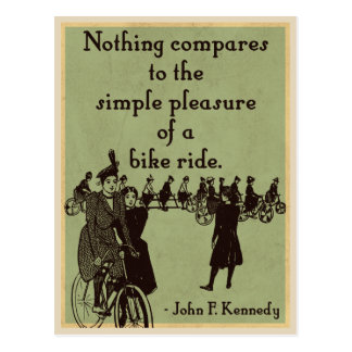 JFK on Cycling quote Postcard