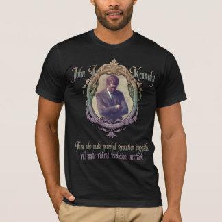 JFK on Violent or Peaceful Revolution T-Shirt