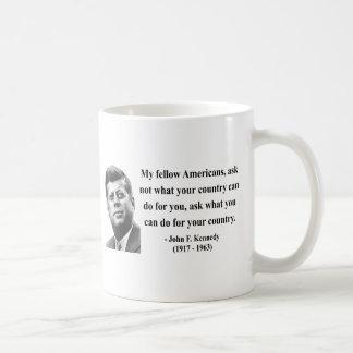 JFK Quote 3b Basic White Mug