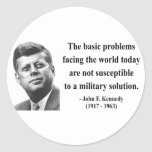 JFK Quote 6b Stickers