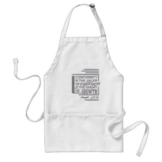 JFK quote apron - choose style