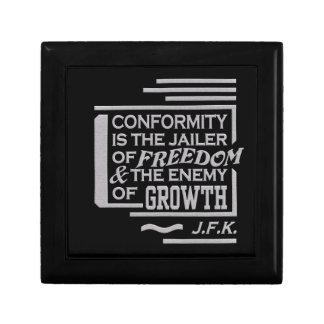 JFK Quote gift box